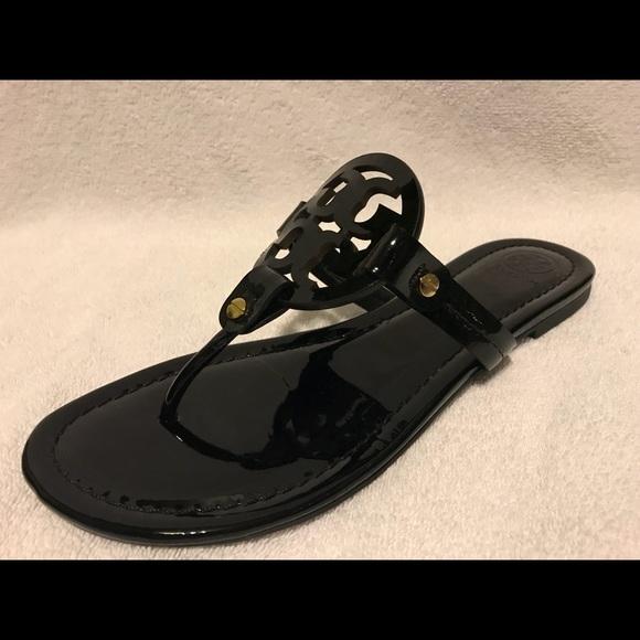 171703e12f8b8 Tory Burch Miller Sandal Black Patent Leather